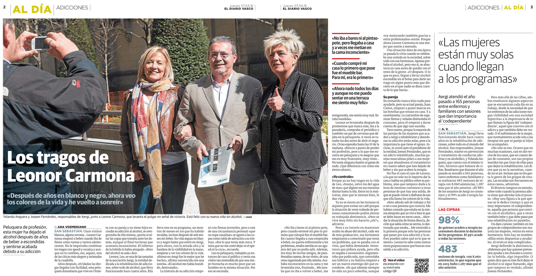 Reportaje sobre Aergi en El Diario Vasco