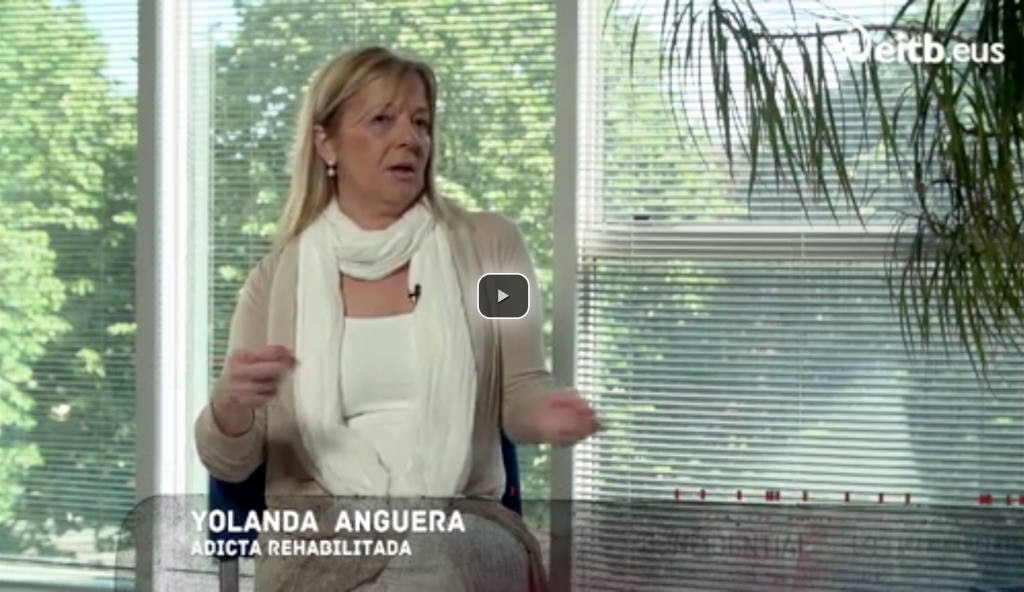 Yolanda Anguera en el programa La Caja Negra de ETB