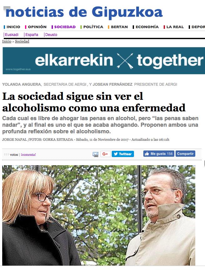 AERGI artículo en Noticias de Gipuzkoa
