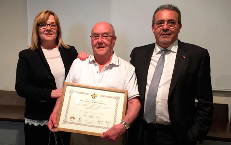 Homenaje a D. Jesús Lasheras, Medalla de Oro de Aragón al Voluntariado