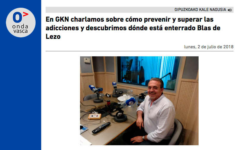 Entrevista a Josean Fernández, presidente de Aergi, en Onda Vasca