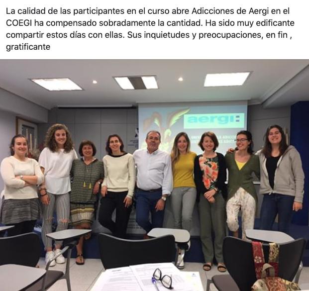 Formacion de AERGI en el COEGI junio 2019