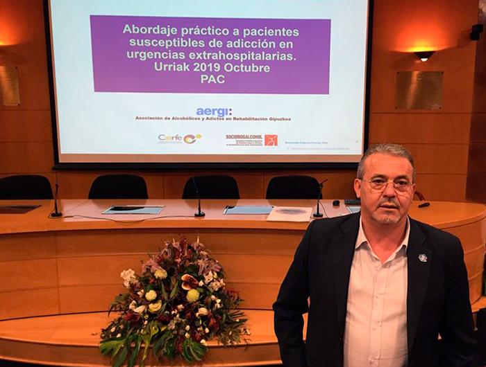 Charla de AERGI en el Colegio de Médicos de Gipuzkoa: Abordaje práctico a pacientes susceptibles de Adicción en Urgencias extrahospitalarias
