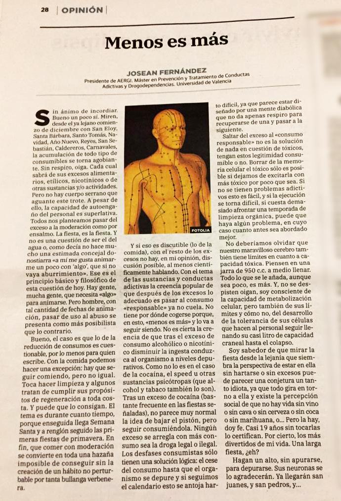 articulo opinión Josean Fernández de Aergi