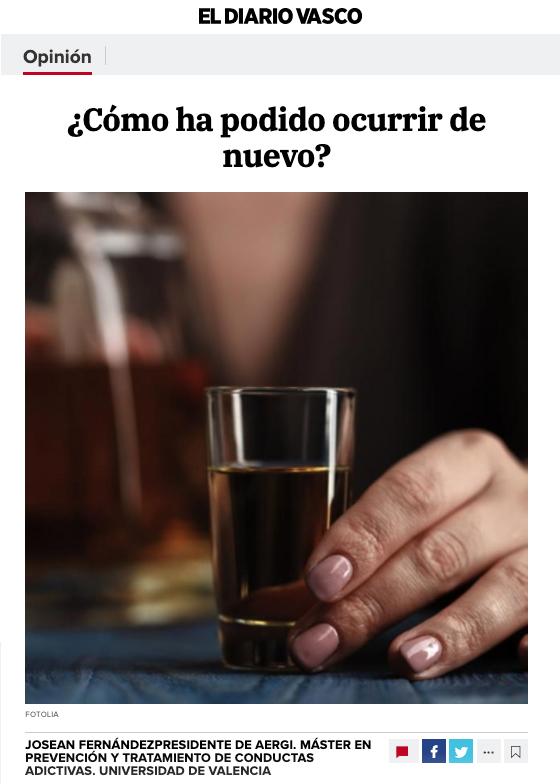 Artículo de opinión de Josean Fernández, AERGI
